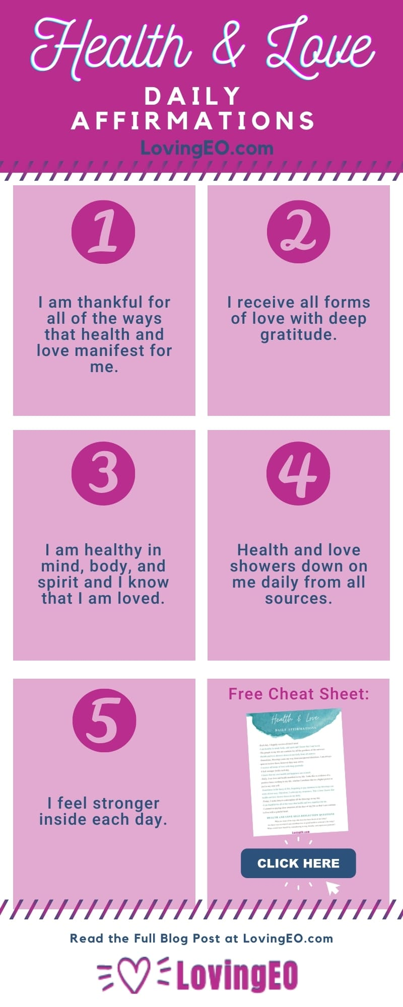 daily affirmations for love and health
