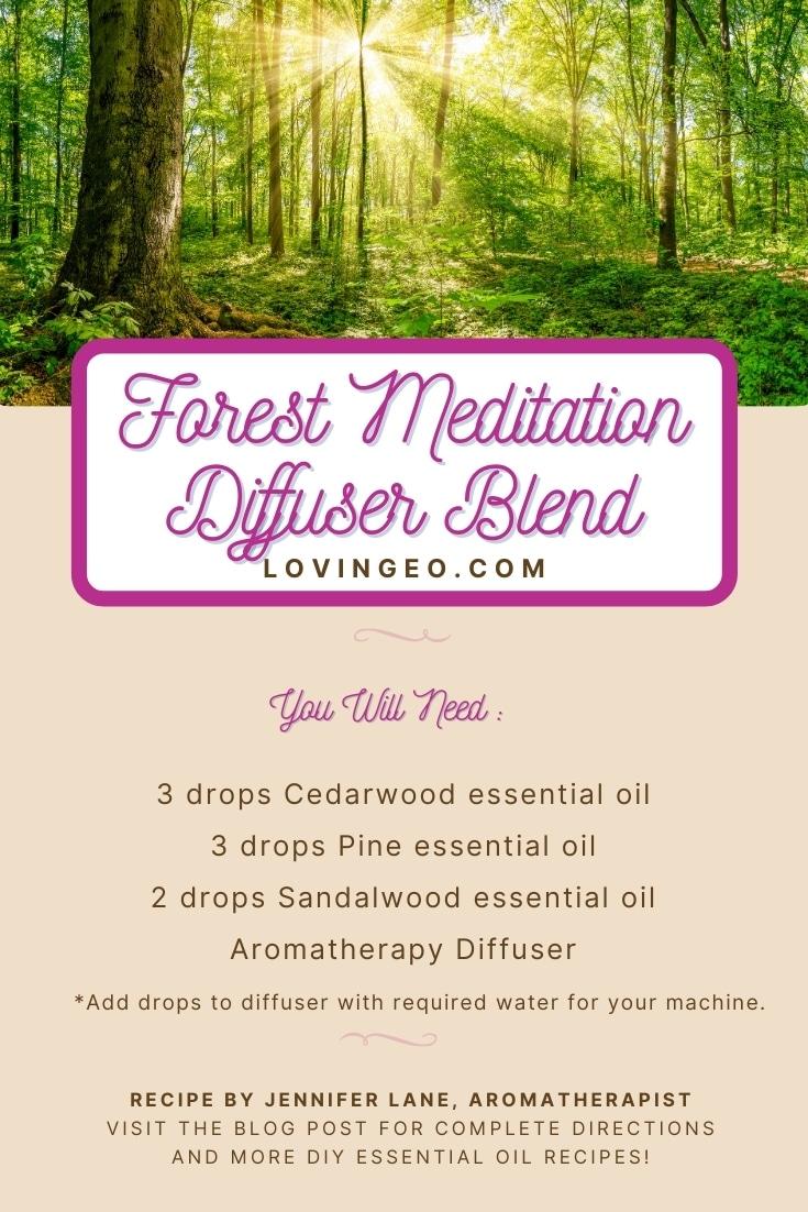 Forest Meditation Diffuser Recipe