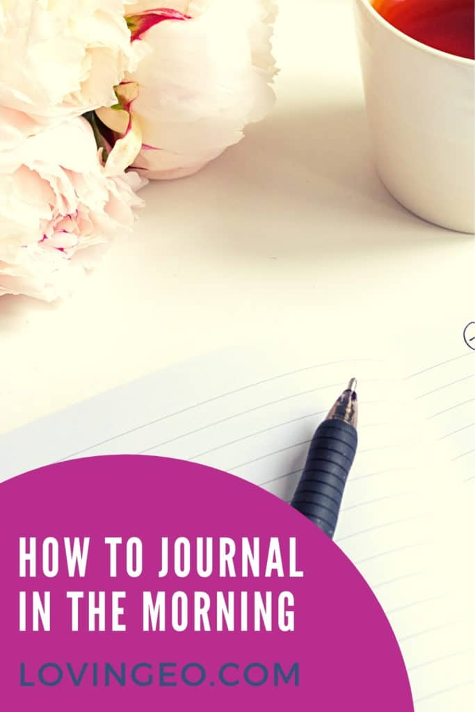 How to Journal In The Morning